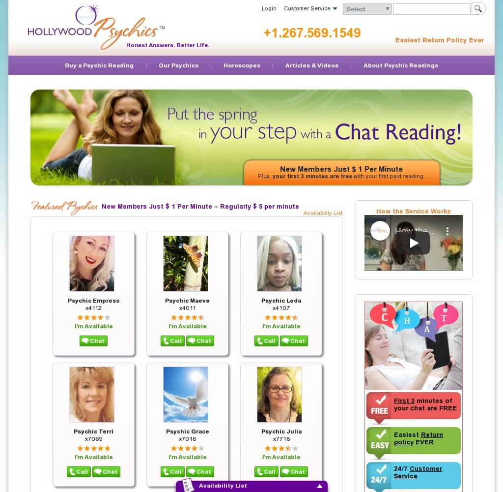 hollywoodpsychics.com